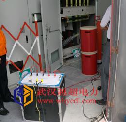 35KV电缆交流耐压试验现场